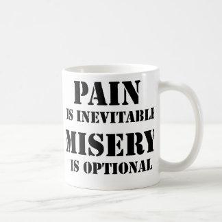 La douleur est inévitable mug