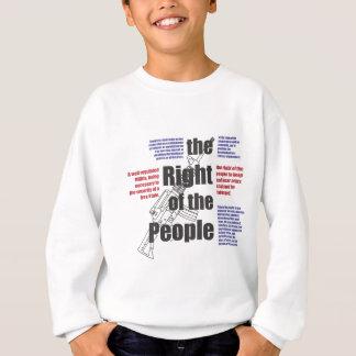 La droite des personnes sweatshirt