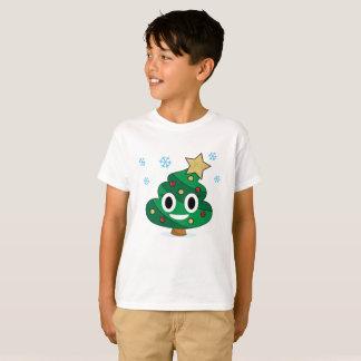 La dunette Emoji d'arbre de Noël badine le T-shirt