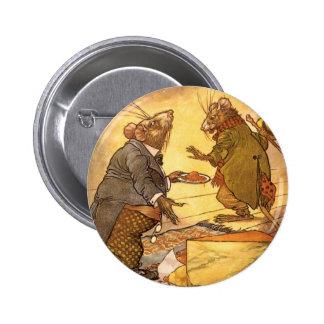 La fable d'Ésope vintage, souris de pays, souris Badges