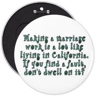 La fabrication d'un travail de mariage est badge rond 15,2 cm