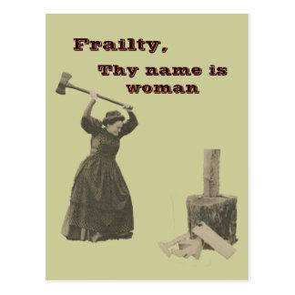 La faiblesse, Thy nom est femme Carte Postale