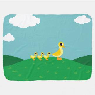 La famille de canard couvertures de bébé