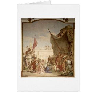 La famille de Darius avant Alexandre Carte De Vœux