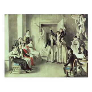 La famille de Franz Peter Schubert jouant des jeux Carte Postale