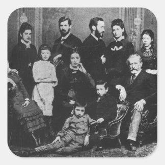 La famille de Freud, c.1876 Stickers Carrés