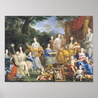 La famille de Louis XIV 1670 2 Affiche