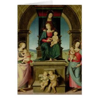 La famille de St Anne, c.1507 Carte De Vœux
