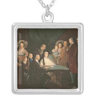 La famille d'Infante Don Luis de Borbon Pendentif Carré
