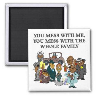 La famille entière magnet carré