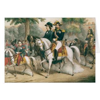 La famille impériale à cheval carte de vœux