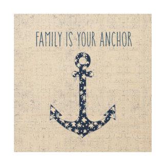 La famille nautique de la citation | est votre impression sur bois