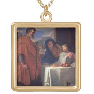 La famille sainte, ou la grâce (huile sur la toile pendentif carré