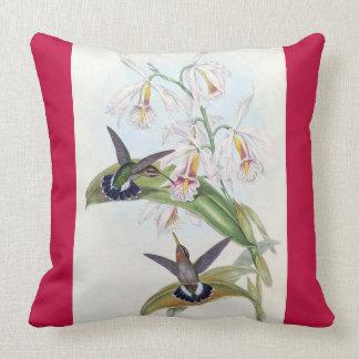 La faune d'oiseaux de colibri fleurit le carreau coussin
