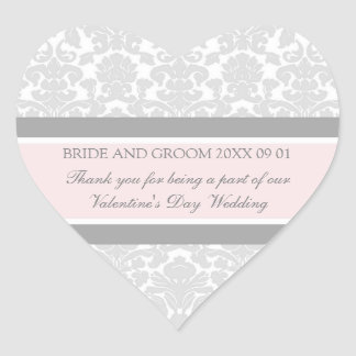 La faveur de mariage de Saint-Valentin étiquette Autocollants En Cœur