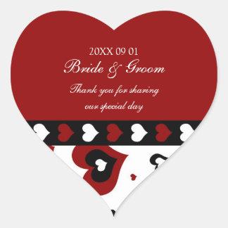 La faveur de mariage de Saint-Valentin étiquette Sticker Cœur
