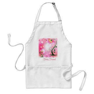 La fée rose fleurit des produits tablier