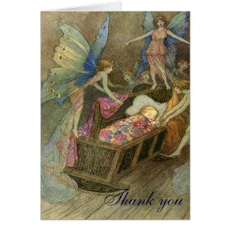 La fée souhaite le carte de remerciements