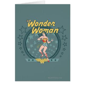 La femme de merveille a affligé la conception carte de vœux