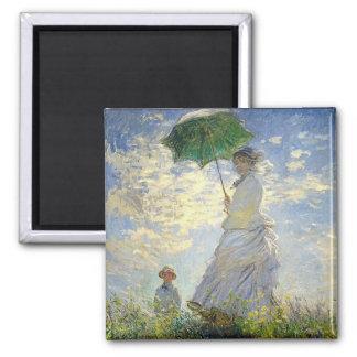 La femme de Monet avec un parasol (la Magnet Carré