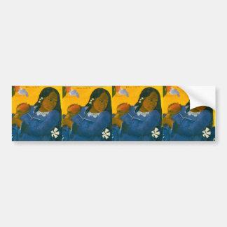 La femme de Paul Gauguin avec une mangue (1892) Autocollant De Voiture