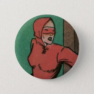 La femme en rouge badges