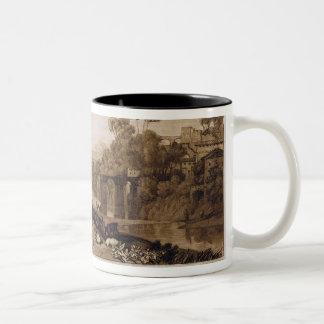 La femme et le tambour de basque, gravés à tour de tasse à café