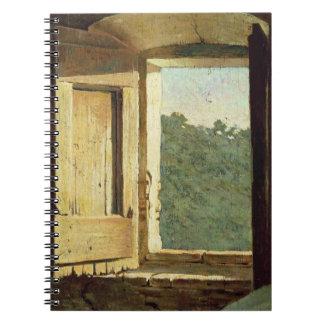 La fenêtre (huile sur la toile) carnet