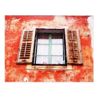 La fenêtre mediteranean carte postale