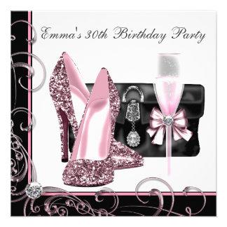La fête d anniversaire rose et noire de la femme