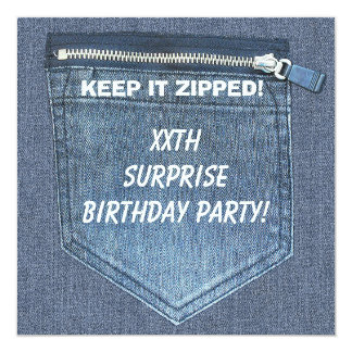 La fête d'anniversaire de SURPRISE de XXth le Carton D'invitation 13,33 Cm