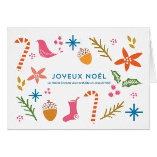 La fête de voeux de carte gribouille Joyeux Noël
