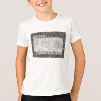 La fête des pères coupée AJOUTENT VOTRE grille en T-shirt