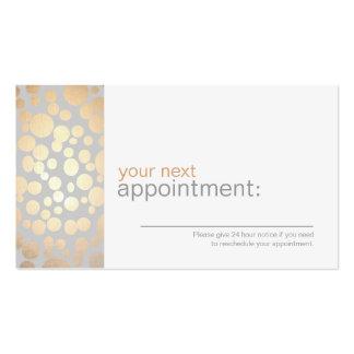 La feuille d'or de Faux entoure la carte grise 1 Carte De Visite Standard