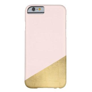 La feuille d'or énervée et chic de Faux a plongé Coque Barely There iPhone 6