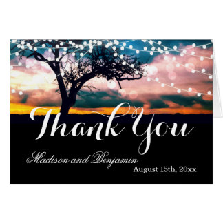 La ficelle allume des cartes de Merci de mariage