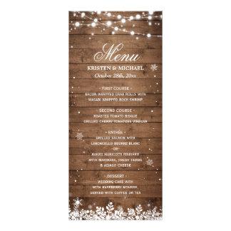 La ficelle allume le menu rustique en bois de