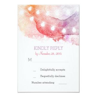 la ficelle d'aquarelle allume des cartes de RSVP Carton D'invitation 8,89 Cm X 12,70 Cm
