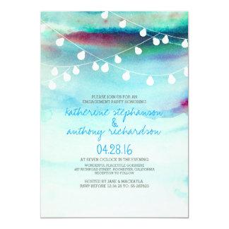 la ficelle de plage d'aquarelle allume la partie carton d'invitation  12,7 cm x 17,78 cm