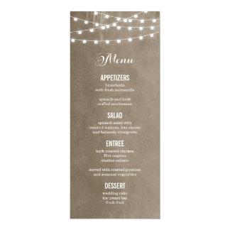La ficelle d'été allume la carte de menu de carton d'invitation  10,16 cm x 23,49 cm