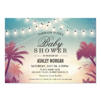 La ficelle extérieure d'été de baby shower allume carton d'invitation  12,7 cm x 17,78 cm