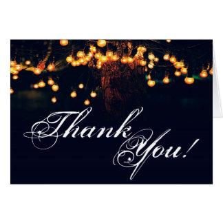La ficelle pliée de chêne de carte de remerciement