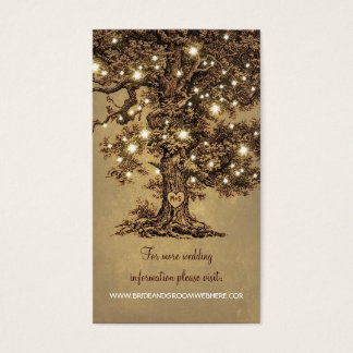 La ficelle rustique allume le mariage d'arbre cartes de visite