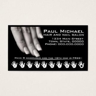 La fidélité de client carde le salon de clou de | cartes de visite