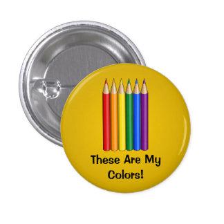 La fierté d'arc-en-ciel crayonne le bouton badge