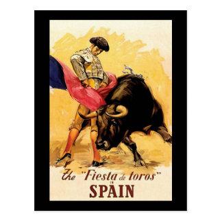 La fiesta De Toros In Espagne Carte Postale