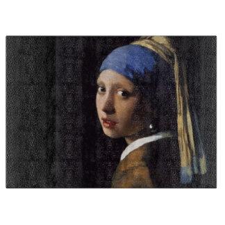 La fille avec la boucle d oreille de perle planche à découper