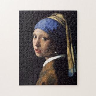 La fille avec la boucle d oreille de perle puzzles avec photo