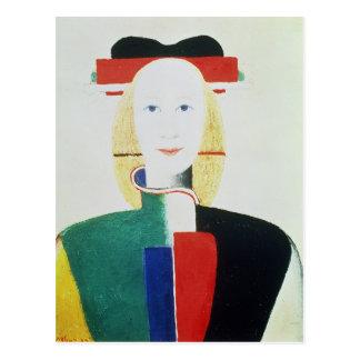 La fille avec le casquette carte postale
