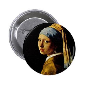 La fille avec un turban/fille avec la boucle badge